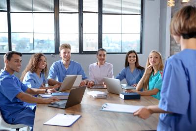 medical professionals having a meeting